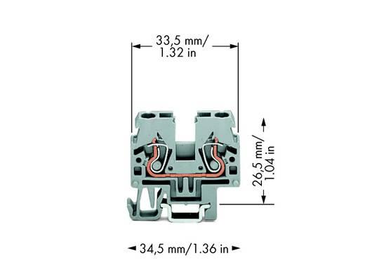 Doorgangsklem 5 mm Veerklem Toewijzing: L Grijs WAGO 870-911 100 stuks
