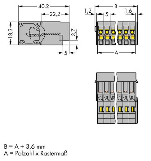 Busbehuizing-kabel Totaal aantal polen 14 WAGO 769-614