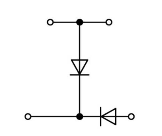 Diodeklem 2-etages 5 mm Veerklem Toewijzing: L Grijs WAGO 870-541/281-491 50 stuks