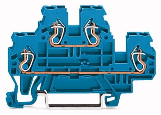 Doorgangsklem 2-etages 5 mm Veerklem Toewijzing: N, N Blauw WAGO 870-504 50 stuks