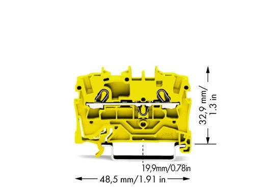 Doorgangsklem 5.20 mm Veerklem Geel WAGO 2002-1206 100 stuks