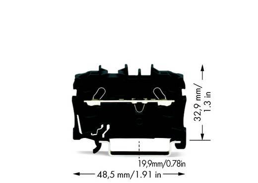 Doorgangsklem 5.20 mm Veerklem Zwart WAGO 2002-1205 100 stuks