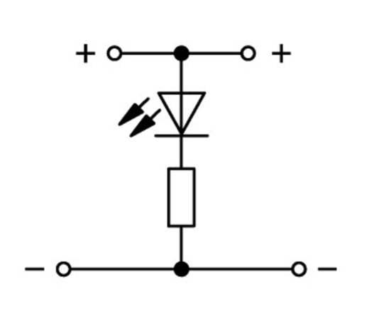 LED-klem 2-etages 5 mm Veerklem Toewijzing: L Grijs WAGO 870-543/281-413 50 stuks