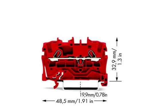 Doorgangsklem 5.20 mm Veerklem Rood WAGO 2002-1203 100 stuks