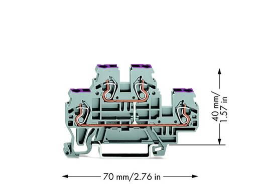 Doorgangsklem 2-etages 5 mm Veerklem Toewijzing: L Grijs WAGO 870-508 50 stuks