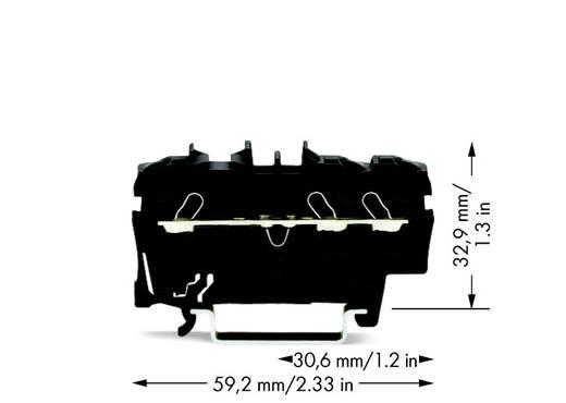 Doorgangsklem 5.20 mm Veerklem Zwart WAGO 2002-1305 100 stuks