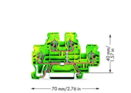 Aardklem 2-etages 5 mm Veerklem Toewijzing: Terre Groen-geel WAGO 870-507 50 stuks
