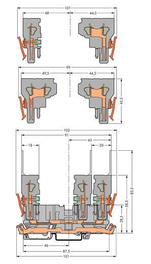 Basisklem 5 mm Steekklem Grijs WAGO 769-201 50 stuks
