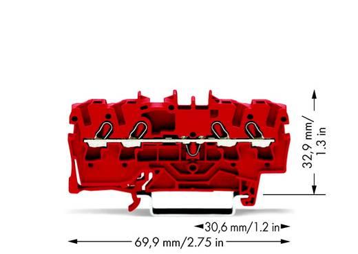 Doorgangsklem 5.20 mm Veerklem Rood WAGO 2002-1403 100 stuks