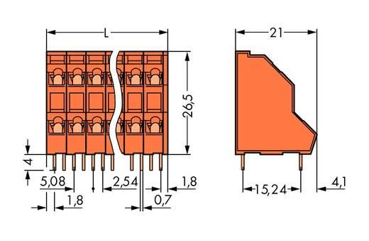 Dubbeldeksklem 2.50 mm² Aantal polen 30 736-415 WAGO Oranje 21 stuks