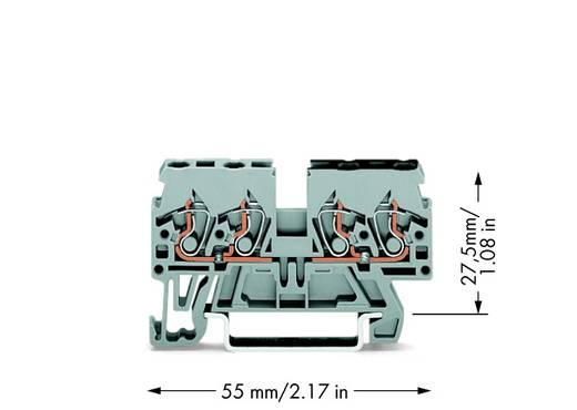 Doorgangsklem 5 mm Veerklem Toewijzing: L Grijs WAGO 870-826 100 stuks