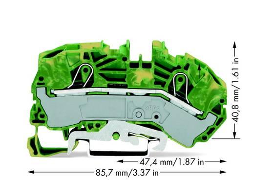 Aardingsklem 12 mm Veerklem Toewijzing: Terre Groen-geel WAGO 2016-7607 20 stuks