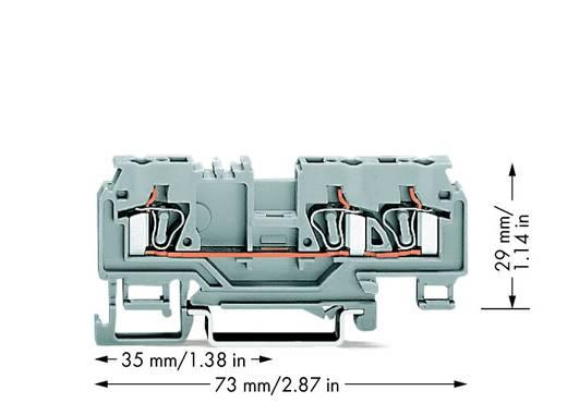 Doorgangsklem 5 mm Veerklem Toewijzing: L Grijs WAGO 880-681 100 stuks