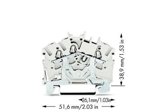 Aardekabelklem 5.20 mm Veerklem Wit WAGO 2002-6308 100 stuks