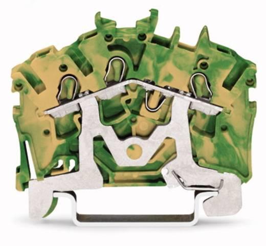 Aardingsklem 5.20 mm Veerklem Toewijzing: Terre Groen-geel WAGO 2002-6307 100 stuks