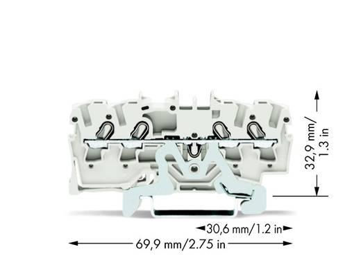 Aardekabelklem 5.20 mm Veerklem Wit WAGO 2002-1408 100 stuks