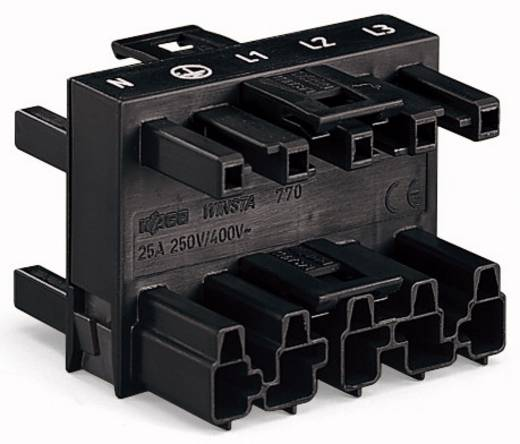 WAGO Net-splitter Netstekker - Netbus, Netbus, Netbus Totaal aantal polen: 5 Zwart 25 stuks