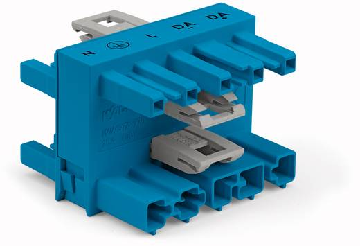 WAGO Net-splitter Netstekker - Netbus, Netbus, Netbus Totaal aantal polen: 5 Blauw 25 stuks