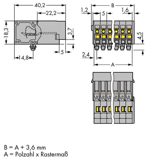 WAGO 769-609/001-000 Busbehuizing-kabel 769 Totaal aantal polen 9 Rastermaat: 5 mm 25 stuks