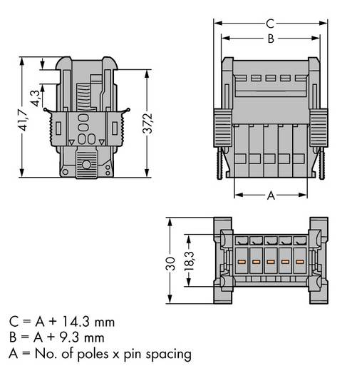 Busbehuizing-kabel 769 Totaal aantal polen 3 WAGO 769-603/006-000 Rastermaat: 5 mm 100 stuks