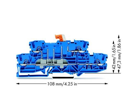Scheidingsklem 2-etages 5.20 mm Veerklem Toewijzing: N, N Blauw WAGO 2002-2974 50 stuks