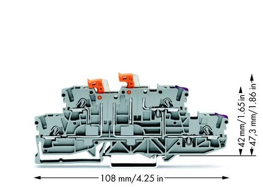 Scheidingsklem 2-etages 5.20 mm Veerklem Toewijzing: L, L Grijs WAGO 2002-2958 50 stuks