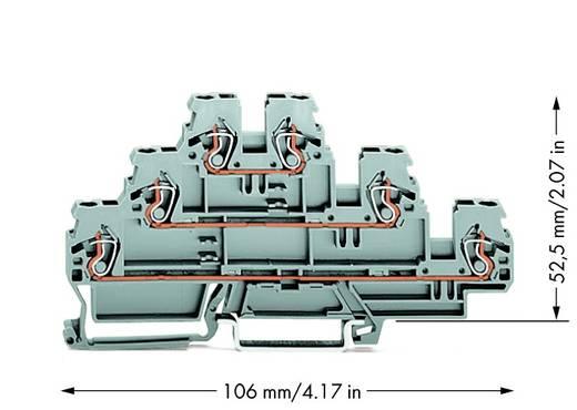 Doorgangsklem 3-etages 5 mm Veerklem Toewijzing: L, L, L Grijs WAGO 870-551 50 stuks