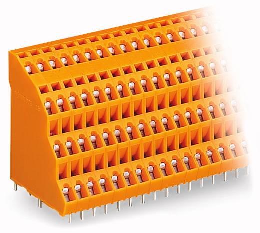 Veerkachtklemblok 2.50 mm² Aantal polen 64 WAGO Oranje 9 stuks