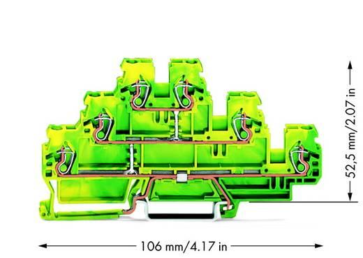 Aardklem 3-etages 5 mm Veerklem Toewijzing: Terre Groen-geel WAGO 870-557 50 stuks