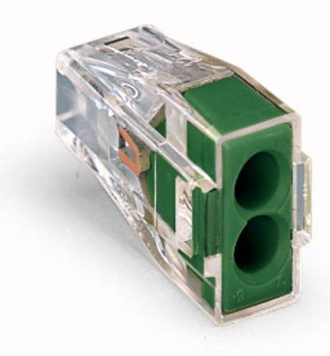 WAGO Lasklem Flexibel: - Massief: 0.75-2.5 mm² Aantal polen: 2 1000 stuks Transparant