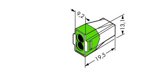 WAGO 773-112 Lasklem Flexibel: - Massief: 0.75-2.5 mm² Aantal polen: 2 1000 stuks Transparant