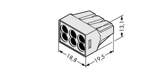 WAGO 773-496 Lasklem Flexibel: - Massief: 0.75-2.5 mm² Aantal polen: 6 500 stuks Lichtgrijs
