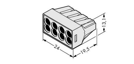 WAGO 773-498 Lasklem Flexibel: - Massief: 0.75-2.5 mm² Aantal polen: 8 500 stuks Lichtgrijs