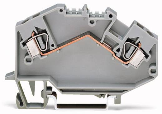 Doorgangsklem 6 mm Veerklem Toewijzing: L Grijs WAGO 781-601 50 stuks