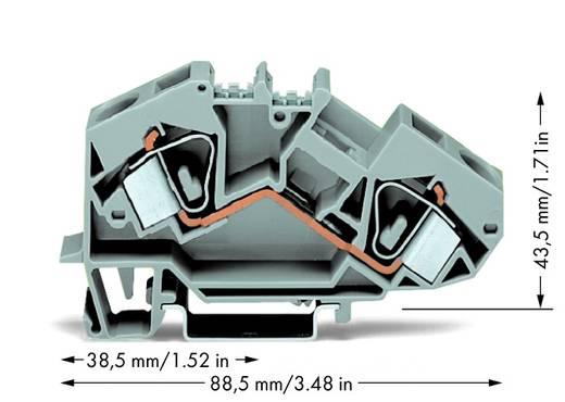 Doorgangsklem 12 mm Veerklem Toewijzing: L Grijs WAGO 783-601 25 stuks