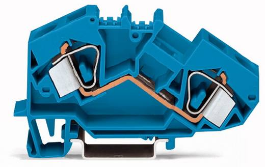 Doorgangsklem 12 mm Veerklem Toewijzing: N Blauw WAGO 783-604 25 stuks