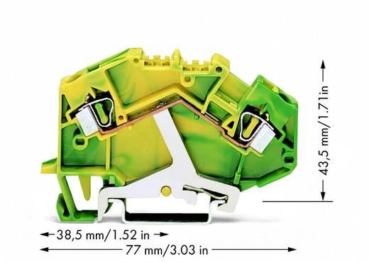 Aardingsklem 6 mm Veerklem Toewijzing: Terre Groen-geel WAGO 781-607 50 stuks