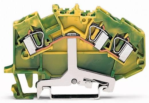 Aardingsklem 6 mm Veerklem Toewijzing: Terre Groen-geel WAGO 781-637/999-950 50 stuks