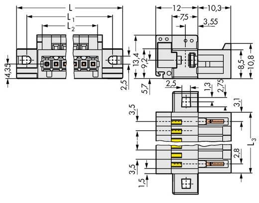 WAGO 734-311/019-000 Penbehuizing-kabel 734 25 stuks