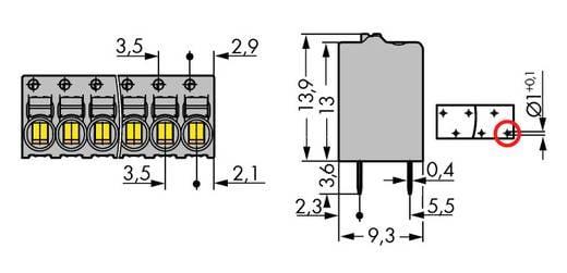 Veerkachtklemblok 1 mm² Aantal polen 2 WAGO Grijs 360 stuks