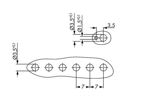 WAGO 2091-1526/020-000 Penbehuizing-board 2091 Totaal aantal polen 6 Rastermaat: 3.50 mm 100 stuks