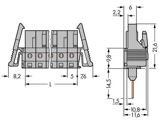 Busbehuizing-board 232 Totaal aantal polen 4 WAGO 232-134/005-000/025-000 Rastermaat: 5 mm 100 stuks