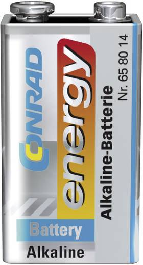 Conrad energy 6LR61 9 V batterij (blok) Alkaline (Alkali-mangaan) 9 V 10 stuks