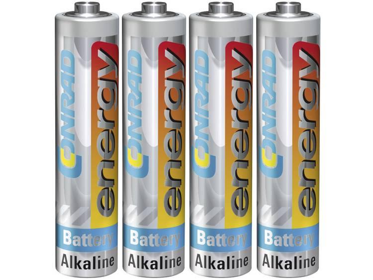 Conrad energy LR03 AAA batterij (potlood) Alkaline 1.5 V 4 stuk(s)