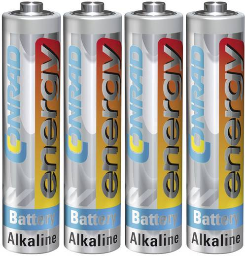 AAA batterij (potlood) Conrad energy LR03 Alkaline 1.5 V 4 stuks