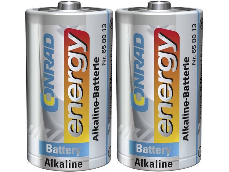 D batterij (mono) Conrad energy LR20 Alkaline 1.5 V 2 stuk(s)