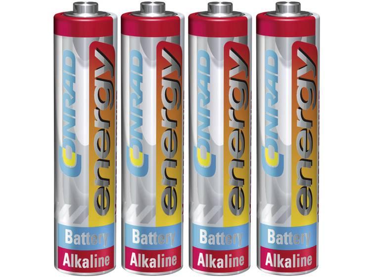 Conrad energy Extreme Power LR03 AAA batterij (potlood) Alkaline 1.5 V 4 stuk(s)
