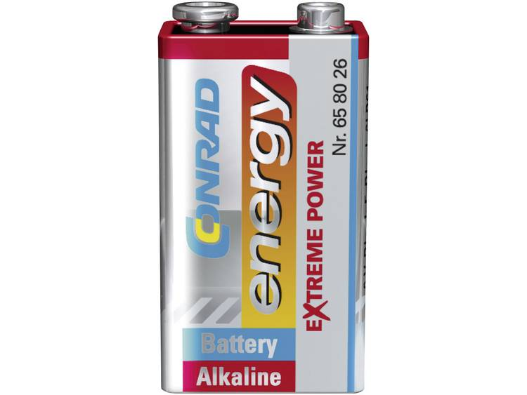 Conrad energy Extreme Power 6LR61 9V batterij (blok) Alkaline 9 V 1 stuk(s)