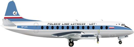 Vliegtuig 1:200 Herpa LOT Polish Airlines Vickers Viscount 800 554657