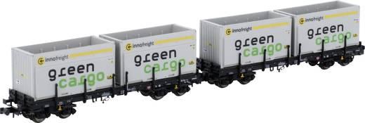 N 2 platte wagens Rems Green Cargo van de DB AG